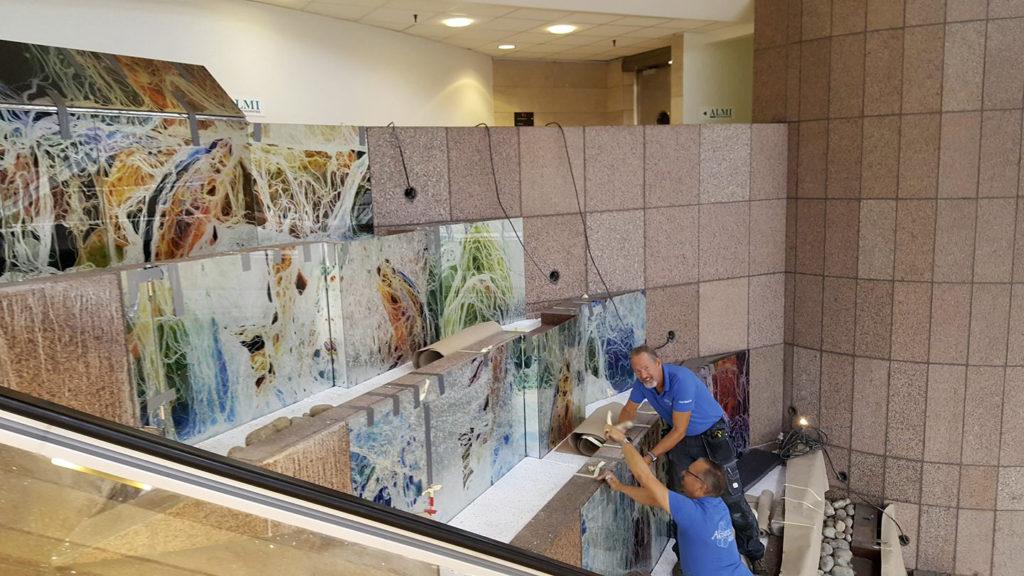 Malunis glaskonst i World Trade Center
