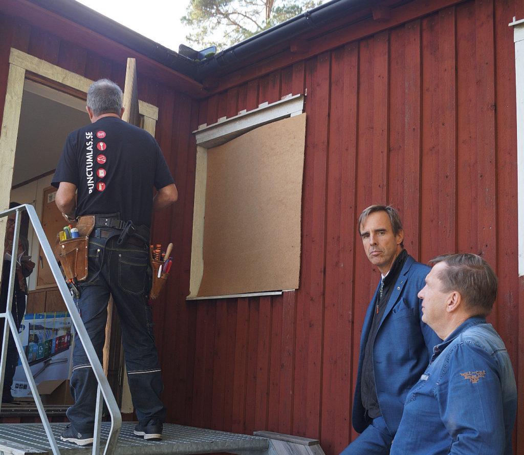 Skyttegille avhyst från Lovö