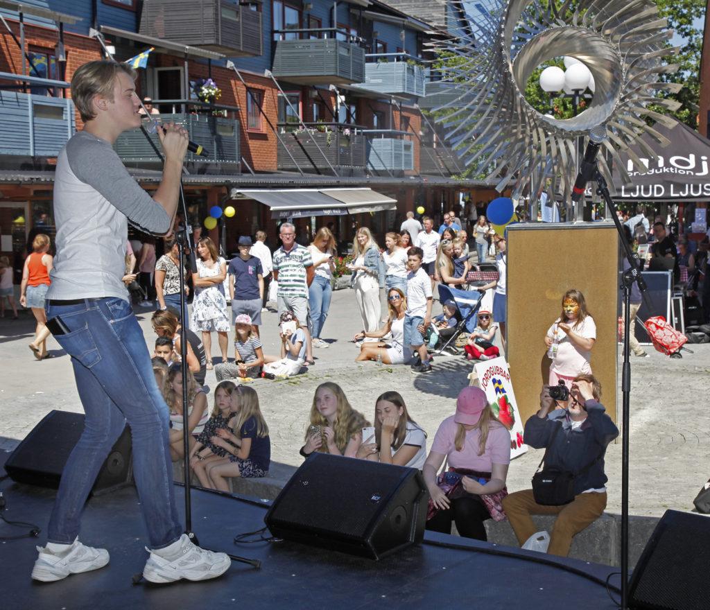 Folk och musik på centrumfest