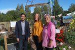 Minister besökte lyckat projekt